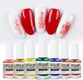 ROSALIND Blossom gel uñas - Esmalte en gel para uñas teñido de halo mágico barniz de uñas acuarela Soak Off UV LED ju...
