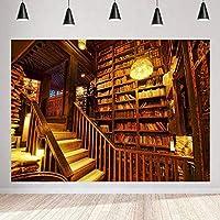 写真のための新しいライブラリの背景250×180cmヴィンテージの木製階段の背景パーティーの装飾用品写真撮影の小道具BJQQST67