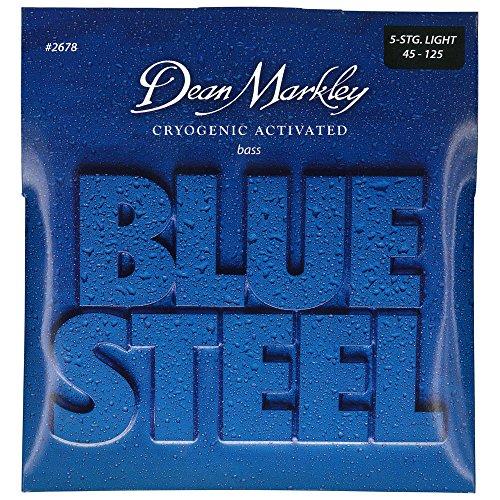 Dean Markley Blue Steel Bass LT 2678 - Juego de cuerdas para bajo de acero.045-.125