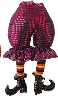 RAZ Halloween Wreath Supply - Plush Witch's Butt Pick Decor Purple #H3516141