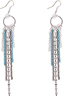 Flying Jewellery Brass Dangle Earrings, French Closure