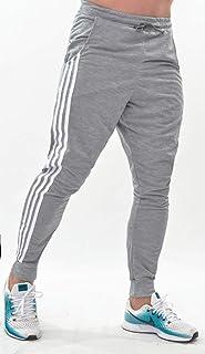 Calça Moletom Skinny Jogger Masculina Listrada Lisa Treino