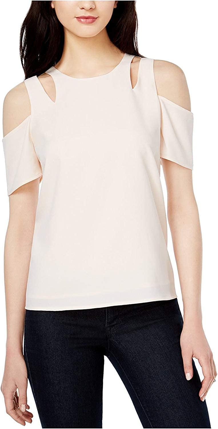Bar Iii Womens Cutout Off The Shoulder Blouse