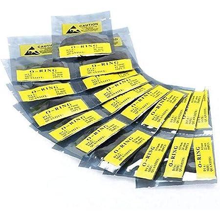 950 Pezzi/Set Kit Guarnizioni Ricambio Per Orologio, Nera O-ring Impermeabile in Gomma Per Kit Guarnizioni Guarnizione Coperchio Posteriore Orologio, Parti Di Riparazione Orologio (0,5mm)