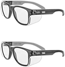 MAGID Y50BKAFC Iconic Y50 Design Series Safety Glasses with Side Shields   ANSI Z87+ Performance, Scratch & Fog Resistant,...