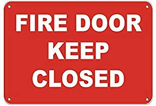 TTDECK Metal Signs for Outdoors Fire Door Keep Closed Style 2 Security Sign Aluminum Metal Sign 8 X12 Inch