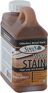 SamaN Interior Water Based Stain for Fine Wood, Golden Wheat, 1 Quart