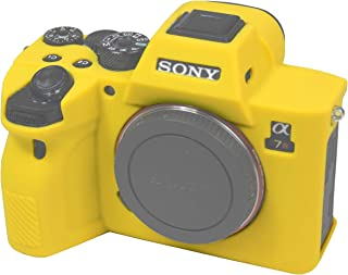 Easy Hood Schutzhülle für Sony Alpha 7R IV A7R IV A7RIV A7RM4 ILCE 7RM4 Digitalkamera (kratzfest), weiches Silikongummi, Schutzhülle (Gelb)