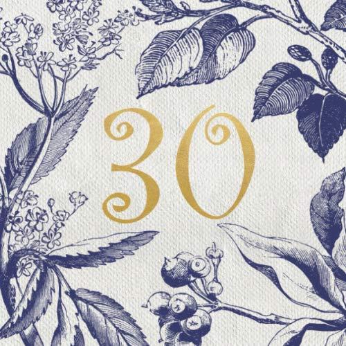 Libro de visitas 30 años: Regalo de cumpleaños mujer 30 años | Libro de recuerdos, felicitaciones y agradecimientos para los invitados | Decoración vintage | Feliz cumpleaños 30 años |