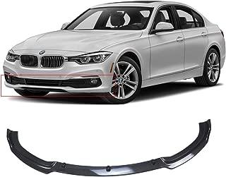 NINTE Front Lip for 2017-2019 BMW F30 3 Series Base Bumper, ABS Carbon Fiber Coating Bumper Spoiler for 320i 325i 328i 335i Base Bumper
