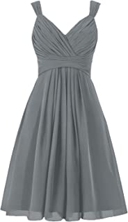 Bridesmaid Dress Short Prom Dress Chiffon Simple Party Dress for Junior