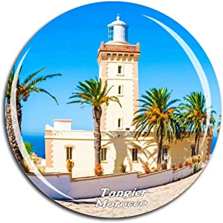 Cap Spartel Light Tangier Morocco Fridge Magnet 3D Crystal Glass Tourist City Travel Souvenir Collection Gift Strong Refrigerator Sticker