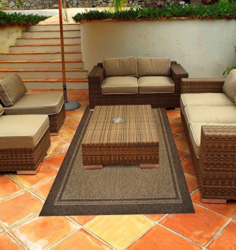 Gertmenian 48129 Brown Jordan Prime Label Outdoor Furniture Rug Furman Collection Sisal Woven Modern Patio Rugs, Dark Brown, 5.25' x 7.5' Standard