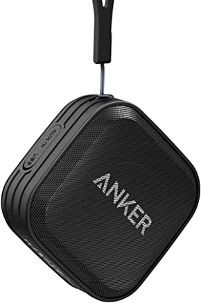 Anker SoundCore Sport Portable Bluetooth Speaker [ IPX7 Waterproof/Dustproof Rating, 10-Hour Playtime ] Outdoor Wireless Shower Speaker with Enhanced Bass and Built-in Microphone