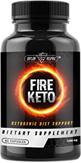 Keto BHB Ketogenic Dietary Supplement Pills - Exogenous Ketone Salt Capsules to Boost Energy and Metabolism - Burn Fat and Support Healthy Ketosis Weight Loss - FIRE Keto - 60 Capsules