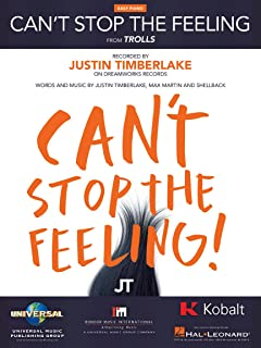 Justin Timberlake - Can't Stop The Feeling - EASY PIANO Sheet Music Single