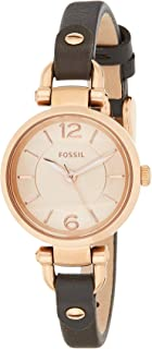 Fossil Georgia Women's Dial Leather Band Watch - ES3862