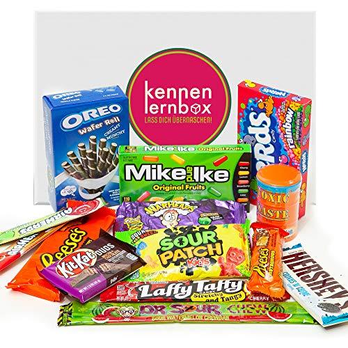 USA Jumbo Box | Kennenlernbox mit 14 beliebten Süßigkeiten aus Amerika | Geschenkidee für besondere Anlässe
