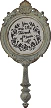 Jozie B You are The Fairest of Them All 12 inch Pewter Embossed Hand Held Mirror