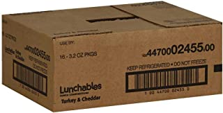 Kraft Oscar Mayer Lunchable Turkey and Cheddar Cheese, 4.5 Ounce -- 16 per case.