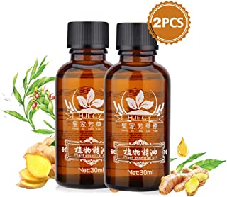 30ml Ginger Essential Oil, Natural Plant Anti Aging Essential Oil SPA Massage Oils, Perfect for Aromatherapy-2 Pack