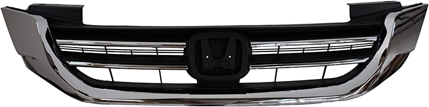 Grill for Honda Accord | 2013 2014 2015 | Front Upper Replacement Grille | Chrome ABS | by Automoded