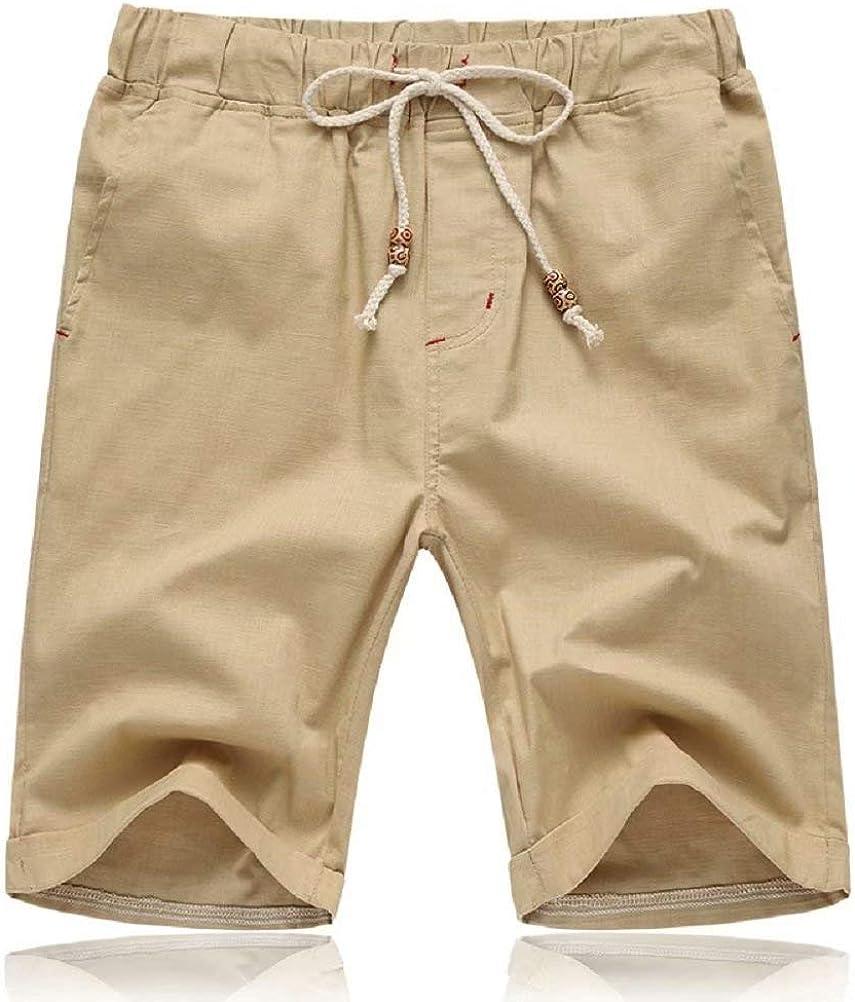Tansozer Mens Shorts Casual Drawstring Summer Beach Shorts with Elastic Waist and Pockets
