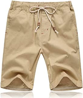 Tansozer Mens Shorts Casual Drawstring Summer Beach Shorts with Elastic Waist and Pockets