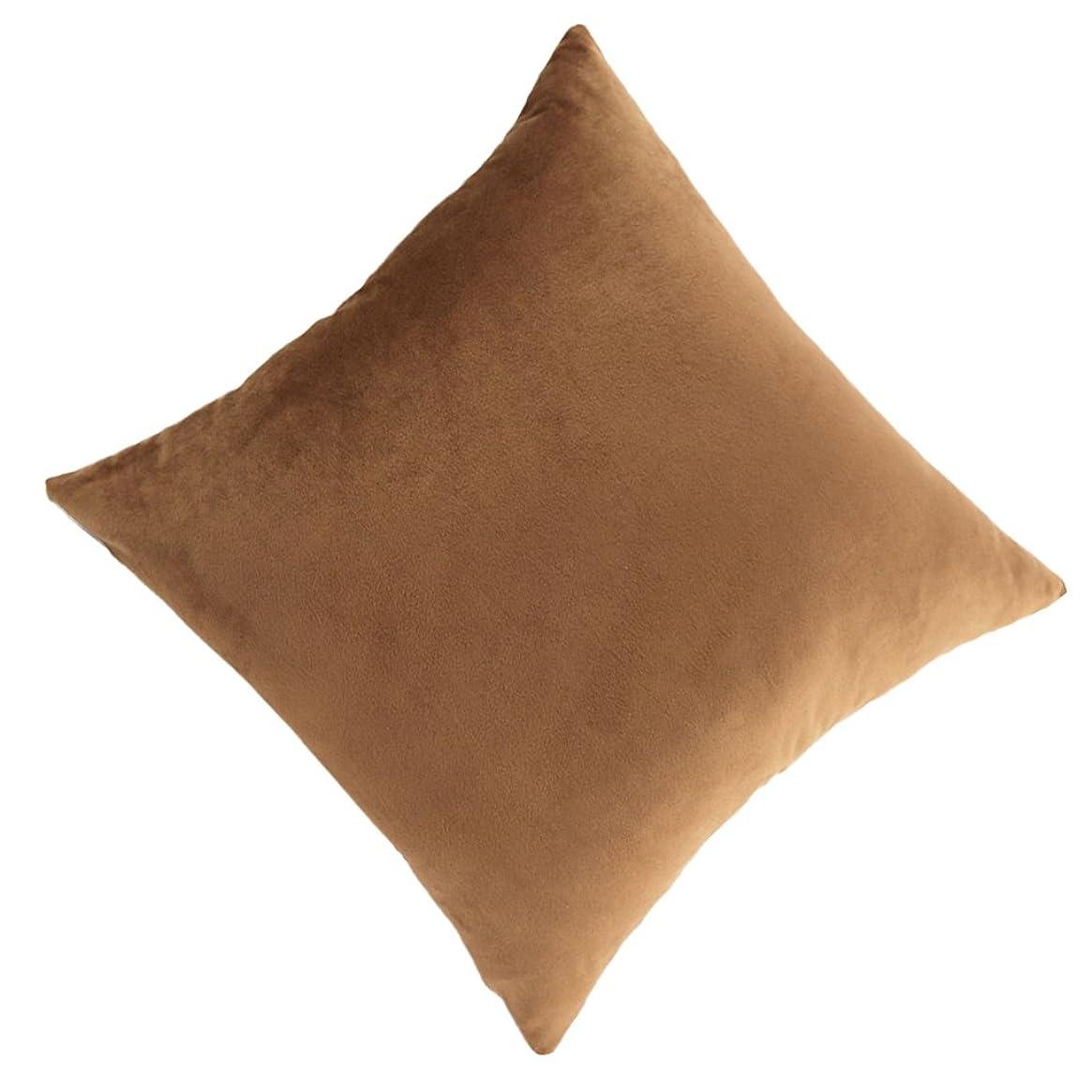 罪誓約六分儀枕カバー クッションケース ソフト 約45x45cm シンプルスタイル 装飾 全11色 - ブラウン