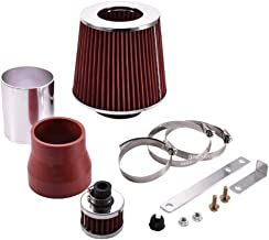 TOHUU Performance Short Ram Air Intake Kit with Air Filter and Heat Shield for 1999-2005 VW Jetta Beetle Golf 1.8L 1.9L 2.0L 2.8L,2000-2006 Audi TT/TT Quattro 1.8L Turbo(Red)