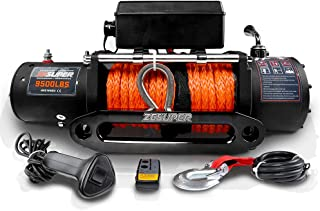 ZESUPER 9500 lb. Load Capacity Electric Winch Kit,Waterproof IP67 Electric Winch with Hawse Fairlead, with Both Wireless H...