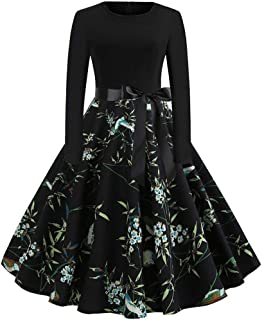 Dresses Women's Evening Dress Cocktail A-line Party Swing Rockabilly 1950s Vintage Elegant Hepburn Wedding Lace Bridesmaids Floral Long Sleeve Dresses Valentine's Day