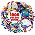SCS Direct 1000-Pieces Classic Building Bricks