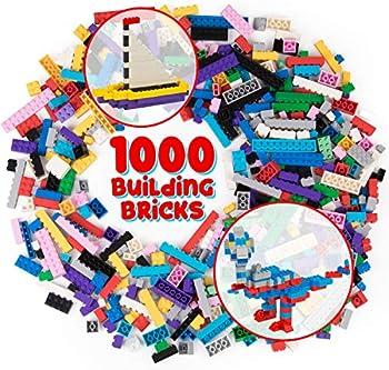 SCS Direct 1000-Pieces Classic Building Bricks