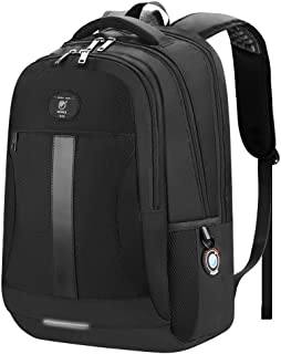 Laptop Backpack, Sosoon Business Bags with USB Charging Port Anti-Theft Water Resistant Polyester School Bookbag for College Travel Backpack for 15.6-Inch Laptop and Notebook Black 15.6 Inch