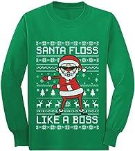 Floss Like a Boss Ugly Christmas Sweater Style Youth Kids Long Sleeve T-Shirt