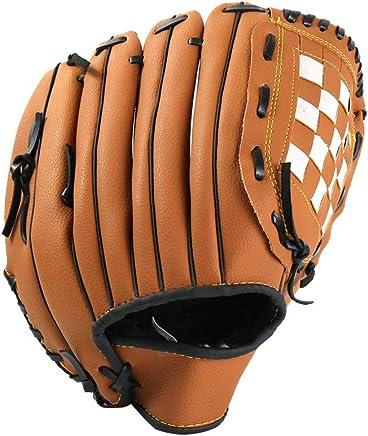 Zay Baseball Glove Softball Glove Outdoor Sports Pitcher Left Hand Leather Baseball Mitts Man Woman Training Equipment Unisex Suit for Beginner