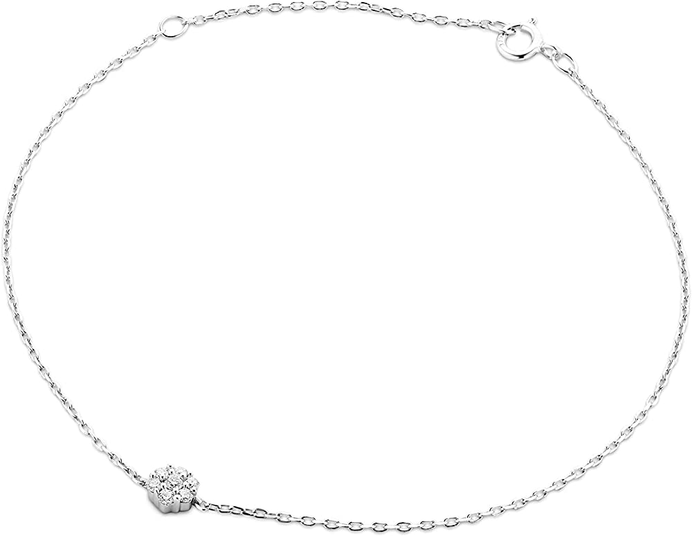 Miore, bracciale per donna in oro bianco 9ct /375(1gr),con diamanti da 0,07 ct MY044B
