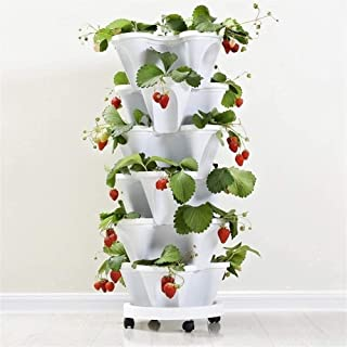 Vegetable Melon Fruit Planting Pot,Stackable Type Creative Plastic Vertical Stereoscopic Gardening Indoor Outdoor Plants F...