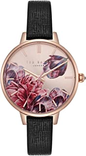 Women's Kate Stainless Steel Quartz Watch with Leather Strap, Multi, 11.2 (Model: TE50005005)