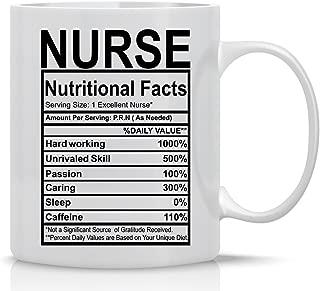 Nurse Nutritional Facts - Funny Nurses Mug - 11OZ Coffee Mug - Mugs For Hardworking Nurses - Funny Medical Mugs for Students Doctors, Nursing or Someone who wants a novelty Nurse Themed Nutrition Mug