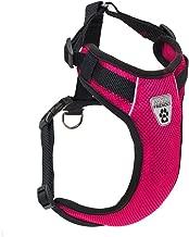 سرج على شكل صدرية بفتحات تهوية من كانين فرندلي للتقييد بالسيارة, Canine Friendly Vented Vest Harness V.2.0, Raspberry, Small, Raspberry