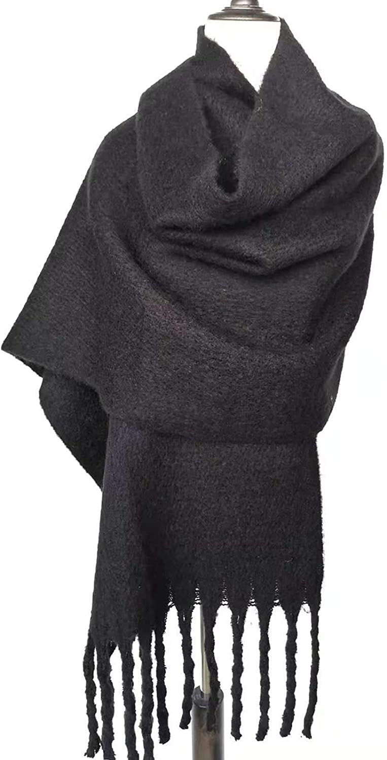 Wool Feel Plaid Scarf Soft Scarves and Wraps Fashion Wraps and Pashminas Shawls Fringe Scarf with Tassels for Autumn