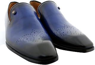 Oscar William Blue Oscar Men's Luxury Classic Handmade Leather Shoes