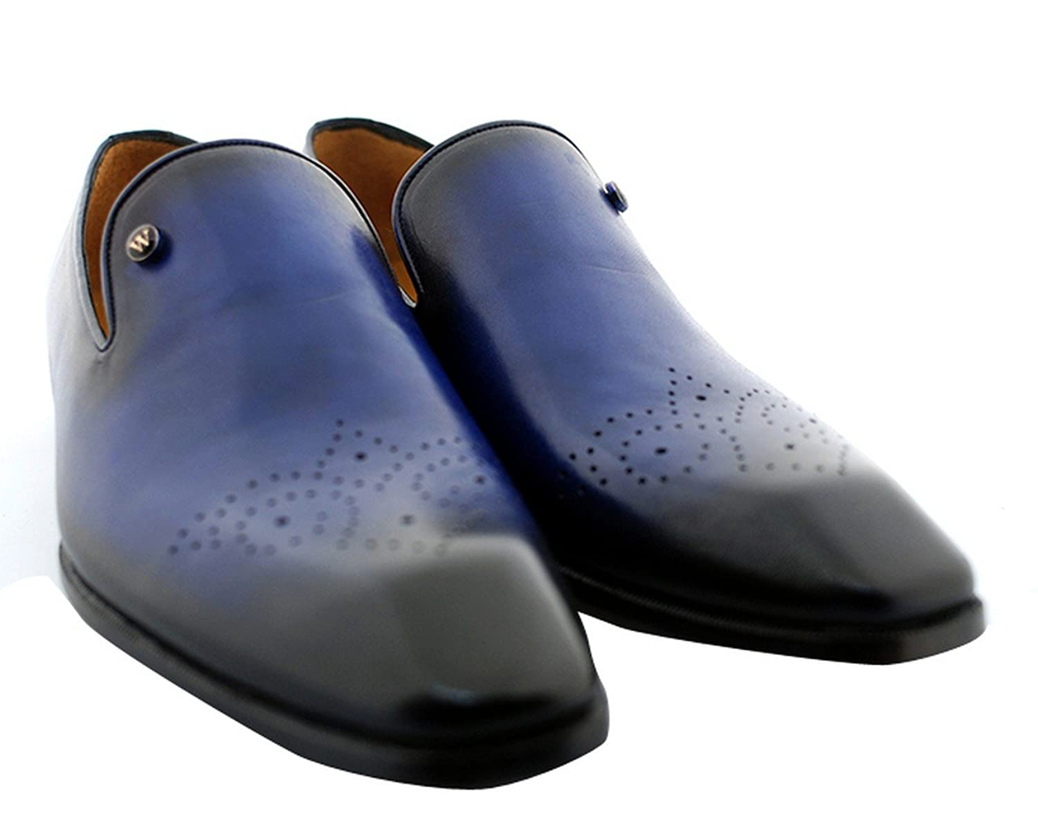 Oscar William Blue Oscar Men's Luxury Classic Handmade Leather Shoes