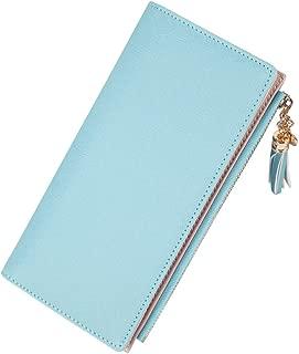 Wiwsi Purse Ladies Daily Clutches Wristlet Bag PU Long Wallet Fuctional Handbags