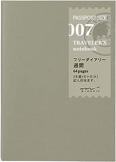Midori Traveler's Notebook (Refill 007) Passport Size Weekly Diary