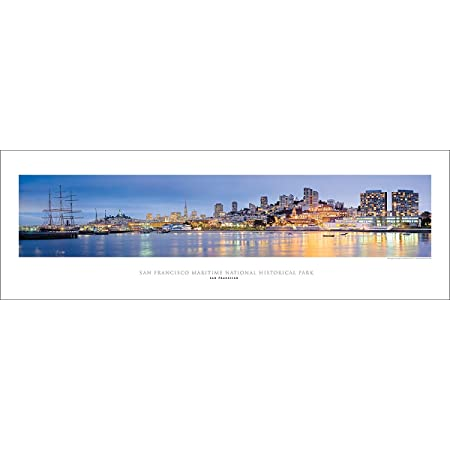 Vista Point Studio Gallery San Francisco Golden Gate Maritime Historical Park Ghirardelli Square Panoramic Art Print Poster Lithographic Prints Posters Prints