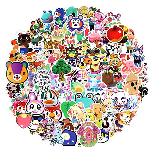 EKKONG 100 Pcs Animal Crossing Paquete de Pegatinas,Impermeable Pegatinas Moto Stickers Pegatina...