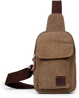 Lucien Hanna Men's Casual Crossbody Bags Canvas One Shoulder Backpack Oblique Chest Pack Fashion Shoulder Bag